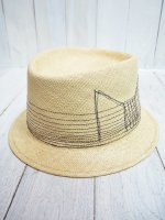 <img class='new_mark_img1' src='https://img.shop-pro.jp/img/new/icons14.gif' style='border:none;display:inline;margin:0px;padding:0px;width:auto;' />【SANFRANCISCO HAT】BRISA BOW PORKPIE(NATURAL)