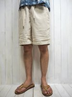 <img class='new_mark_img1' src='https://img.shop-pro.jp/img/new/icons14.gif' style='border:none;display:inline;margin:0px;padding:0px;width:auto;' />【FIVE BROTHER】LINEN EASY SHORTS(NATURAL)