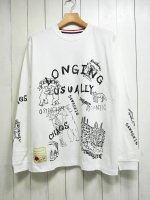 <img class='new_mark_img1' src='https://img.shop-pro.jp/img/new/icons14.gif' style='border:none;display:inline;margin:0px;padding:0px;width:auto;' />【SEVESKIG】CHAOS DOODLE L/S TEE with texta8000(WHITE)