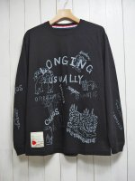 【SEVESKIG】CHAOS DOODLE L/S TEE with texta8000(BLACK)