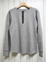 <img class='new_mark_img1' src='https://img.shop-pro.jp/img/new/icons14.gif' style='border:none;display:inline;margin:0px;padding:0px;width:auto;' />【STRUM】LOW GAUGE STRETCH DOUBLE JERSEY HENRY NECK T-SHIRT(GRAY)