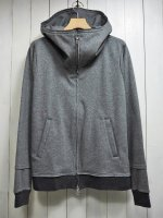 <img class='new_mark_img1' src='https://img.shop-pro.jp/img/new/icons14.gif' style='border:none;display:inline;margin:0px;padding:0px;width:auto;' />【STRUM】VELOUR LIKE KNIT ZIP UP HOODY(GRAY)