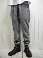 <img class='new_mark_img1' src='https://img.shop-pro.jp/img/new/icons14.gif' style='border:none;display:inline;margin:0px;padding:0px;width:auto;' />【STRUM】VELOUR LIKE KNIT JERSEY PANTS(GRAY)