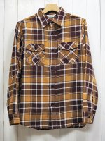 <img class='new_mark_img1' src='https://img.shop-pro.jp/img/new/icons14.gif' style='border:none;display:inline;margin:0px;padding:0px;width:auto;' />【FIVE BROTHER】HEAVY FLANNEL HUNTING SHIRT(MUSTARD CHECK)
