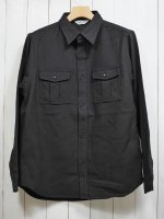 <img class='new_mark_img1' src='https://img.shop-pro.jp/img/new/icons14.gif' style='border:none;display:inline;margin:0px;padding:0px;width:auto;' />【FIVE BROTHER】HEAVY FLANNEL HUNTING SHIRT(PLANE BLACK)