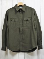 <img class='new_mark_img1' src='https://img.shop-pro.jp/img/new/icons14.gif' style='border:none;display:inline;margin:0px;padding:0px;width:auto;' />【FIVE BROTHER】HEAVY FLANNEL HUNTING SHIRT(PLANE OLIVE)
