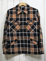 <img class='new_mark_img1' src='https://img.shop-pro.jp/img/new/icons14.gif' style='border:none;display:inline;margin:0px;padding:0px;width:auto;' />【FIVE BROTHER】EX HEAVY FLANNEL C.P.O. SHIRT(BLACK CHECK)
