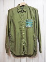 <img class='new_mark_img1' src='https://img.shop-pro.jp/img/new/icons41.gif' style='border:none;display:inline;margin:0px;padding:0px;width:auto;' />【RUBVALLEY】TRIBAL SHIRT(OLIVE)