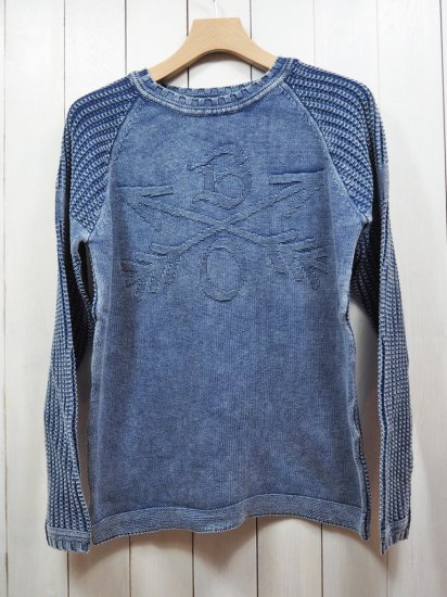 "【Burnout】JACQUARD KNIT PULLOVER""CROSSED ARROWS""(INDIGO)"