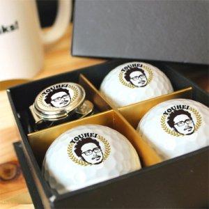 ゴルフマーカー(ゴールド)ボール付き