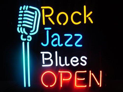 ロック・ジャズ・ブルースの文字のオシャレなネオン