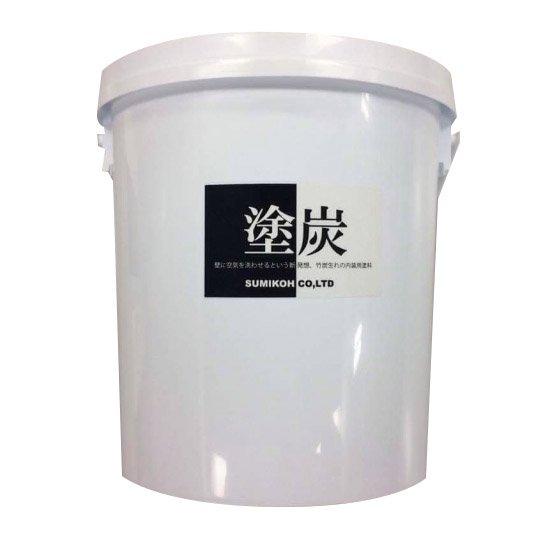 [ 竹炭生まれの内装用塗料] 塗炭 3kg 9.9�塗可能