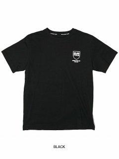 SY32 by SWEETYEARS(エスワイサーティーツーバイスウィートイヤーズ)シールドロゴバックプリントティーシャツ ブラック