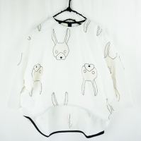 2019 Autumn Winter collection 『USAGI POP』 TOTAL HANDLE ROEND HEM TP《WHITE / L》