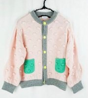 WAVE CUT SELEVES POPCORN KNIT  CARDIGAN《PK-GN/M》