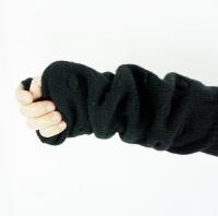frankygrow POPCORN KNIT ARM WARMER《BLACK/F》