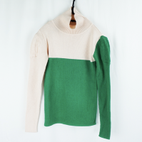 SWELL SHOULDER HIGH-NECK KNIT《PK-GN/L》