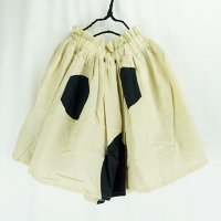 SWITCHING DOTS SKIRT DYED《BEIGE×BLACK / WOMEN》