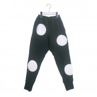 UNEVEN BOA DOTS SWEAT PANTS【WOMEN/BLACK-WHITE DOTS】