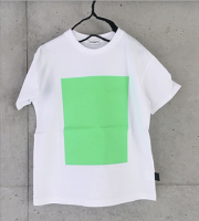 frankygrow SQUARE PRINT TEE/lady's/white