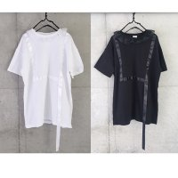 frankygrow RIBBON BIG TEE/black