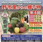 【予約受付中】野市里からの贈り物 (野菜・果物・山菜・加工品の定期便)  ※ 5月下旬〜発送開始をお取り寄せ