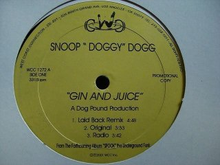 Snoopdogg Gin And Juice G-RAP