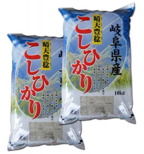 数量限定特価!岐阜県恵那産コシヒカリ 令和2年産 10Kg×2袋 送料別