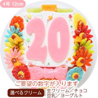 デコ盛 Happy Number birthdaycake【4号 12cm】1人〜3人用