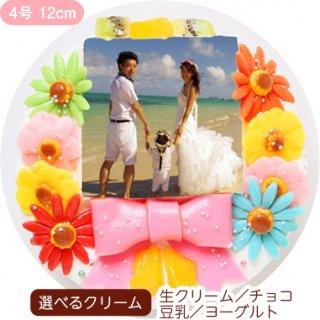 デコ盛りフォトケーキ【4号 12cm】1人〜3人用