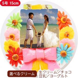 デコ盛りフォトケーキ【5号 15cm】3人〜5人用
