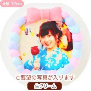 カラフルクリームフォトケーキ【4号 12cm】1人〜3人用