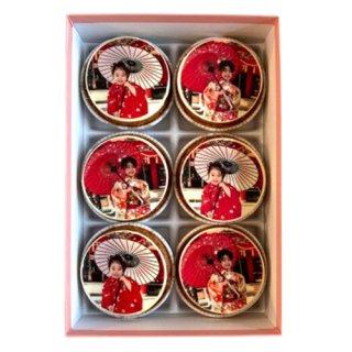 キャラクターフォトカップケーキ(6個入り)