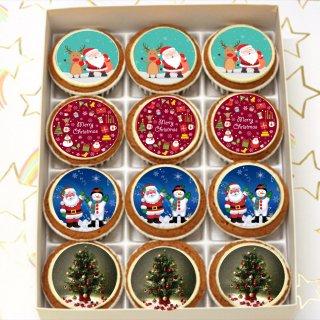 クリスマスキャラクターフォトカップケーキ(12個入り)