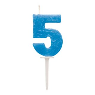 ナンバーキャンドル「5」