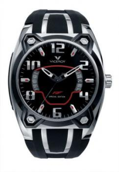 Viceroy Men's 47609-75 Stainless-steel Black Rubber Date Watch
