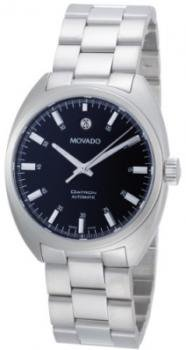 Movado Men's 0606359 Datron Stainless-Steel Black Round Dial Watch