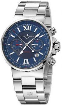 Ulysse Nardin Men's 353667/323 Maxi Marime Blue Chronograph Dial Watch