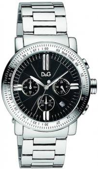 D&G Dolce & Gabbana Men's DW0675 Genteel Ext Round Chronograph Tech Dial Watch