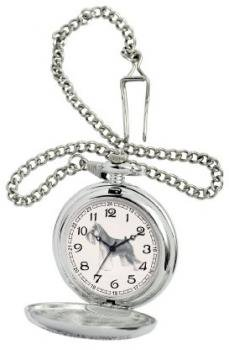 American Kennel Club Men's D1599 Miniature Schnauzer Pocket Watch with Chain