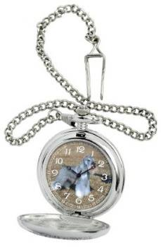 American Kennel Club Men's D1624 Miniature Schnauzer Pocket Watch with Chain