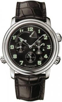 Blancpain Men's 2041.1130M.53B Leman GMT Alarm Watch