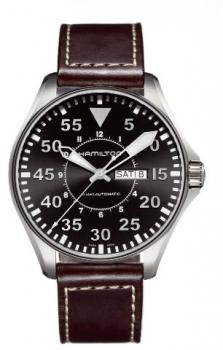 Hamilton Men's H64715535 Khaki Pilot Black Dial Watch
