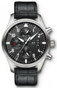 NEW IWC PILOT'S CHRONOGRAPH AUTOMATIC MENS WATCH IW377701