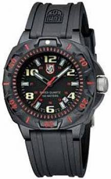 Luminox Men's 0215.SL Sentry 0200 Black Dial With Red Markings On The Outer Bezel Watch