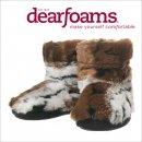 【Dearfoams ディアフォームズ】ルームシューズ ファー ブーツ マルチブラウン 【FA-67】可愛い 室内履き ルームシューズ もこもこ あったか