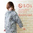 レインコート 収納ポーチ 一体型 SOL(ゼブラ)【RA-07】TOKO90005 レインコート ポーチ レインコート レインポンチョ