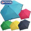 OUTDOOR PRODUCTS 大人 キッズ無地パイピング折傘 55cm【RA-24】【雨傘 かわいい レイングッズ アンブレラ ランドセル 折り畳み傘 アウトドア】