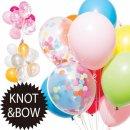 ●パーティー バルーン 風船 KNOT&BOW【LI-28】【パーティ 忘年会 宴会 盛り上がる サプライズ 出産命名 紙吹雪】