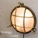 ヴィンテージウォールランプ[サブマリン ラウンド(ブロンズ)]LED電球対応【照明 豪華 キュート 軽量 お手頃 ウォールランプ】